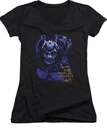 Arkham Asylum Bane Ladies Junior Fit V-Neck T-Shirt