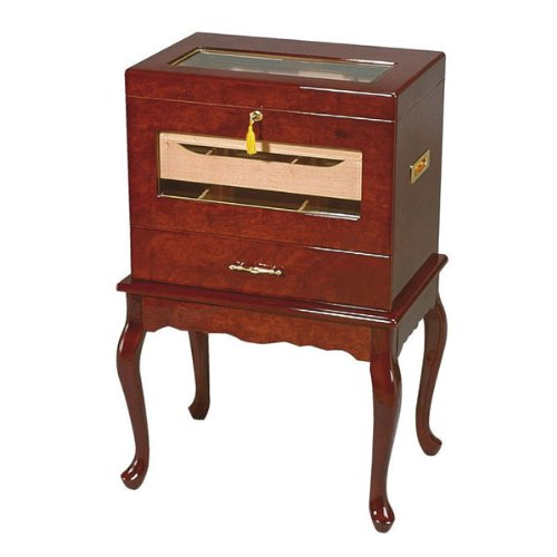 Cheap Geneve Glass-Top End Table Humidor (500 Cigars) (HUM-500G)