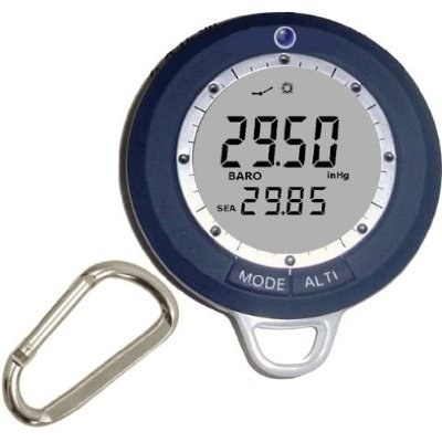 Ambient Weather WS-108BA Digital Barometer, Altimeter, Compass, Thermometer, Clock
