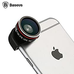 Baseus Mini Wide Angle,Fish eye Macro Lens Pro Series Black for iPhone 6 and 6 Plus (3 in 1 lens)