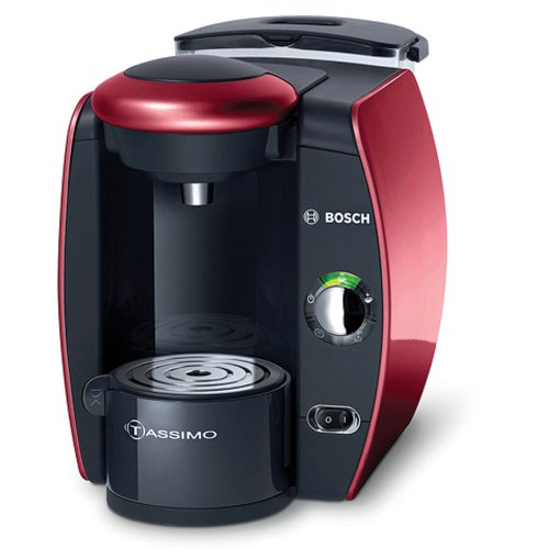 Bosch TAS4513UC Tassimo Single-Serve Coffee Brewer, Glamour Red