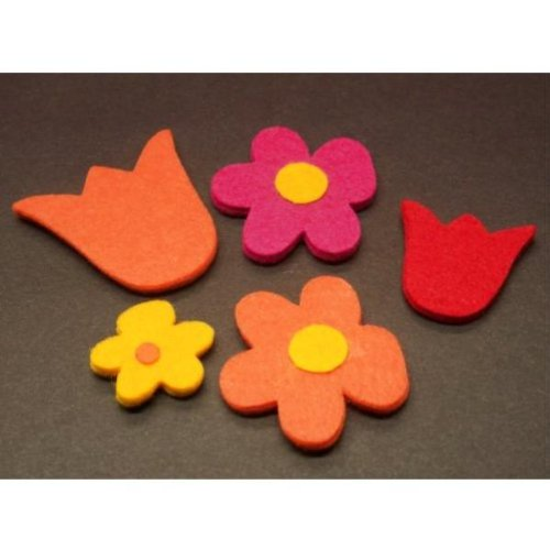 Adhesive Chunky Felt Flowers Case Pack 216