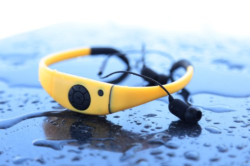 Tayogo Active Sport Bluetooth 2-In-1 Waterproof Headset And Microphone For Hands-Free Call Answering (Yellow)