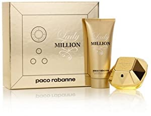 Lady Million by Paco Rabanne 2 Piece Set Includes: 2.7 oz Eau de Parfum Spray + 3.4 oz Sensual Body Lotion