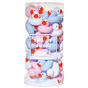 Tub of 36 Ducks. Pastel Solids.