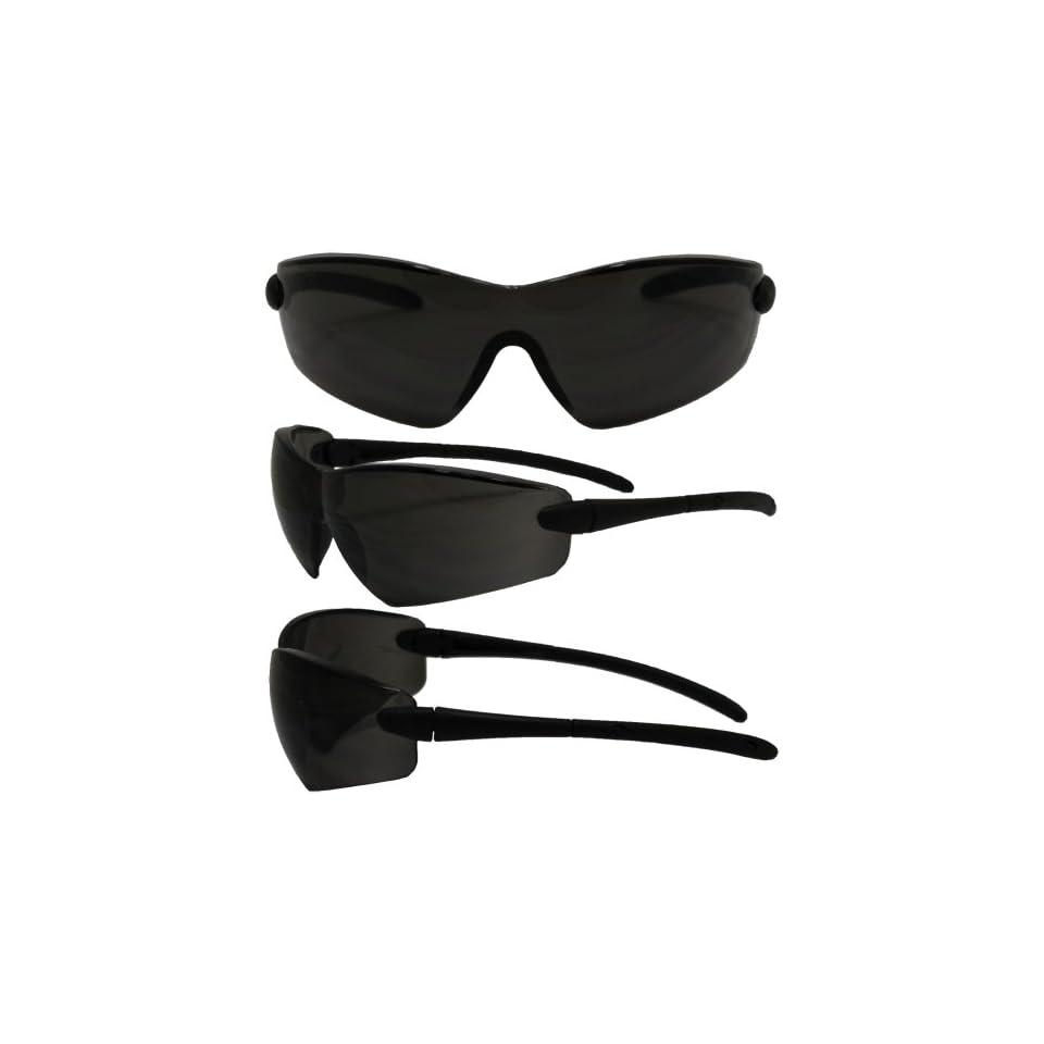 1d3f53a2ed Global Vision Saturn ANSI Z87.1 Safety Glasses Black Frame Smoke Lens