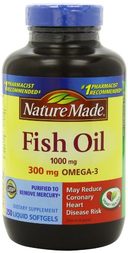 Nature Made Fish Oil 1000 Mg, Value Size, Softgels, 250-Count (Nature Made Mega compare prices)