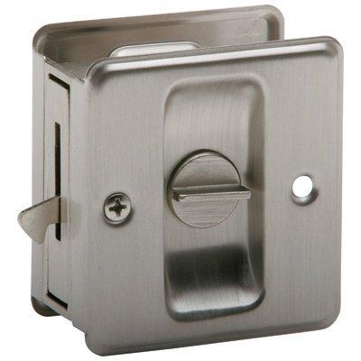 SCHLAGE LOCK CO SC991B-619 Sliding DR Lock, Satin Nickel