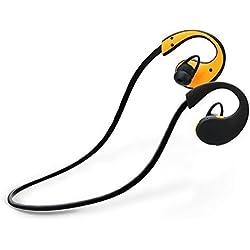 Auricolare Bluetooth, Bluetooth 4.0 Levin® Auricolare Impermeabile Sportivo (IP66 impermeabili) per IPhone, Samsung Galaxy ed altri Telefoni Bluetooth e Smartphone, Nero&Gialla
