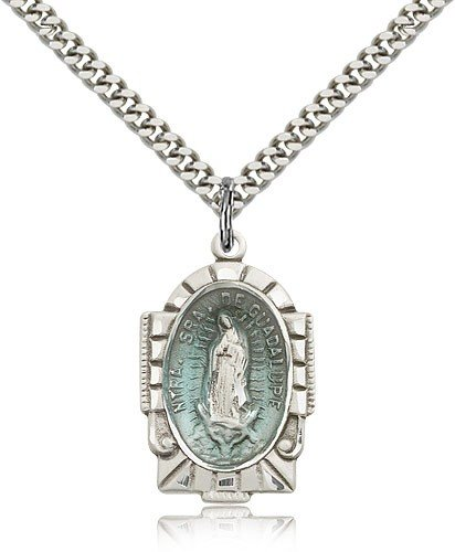 Our Lady of Guadalupe Medal, Sterling Silver