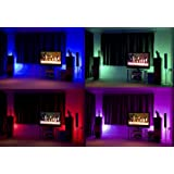Colour changing LED Kit 2 x 500mm Tubes with RF remote control, and plug in power supply.by LEDEE