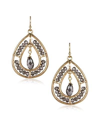 Marlyn Schiff Beaded Oval Fish Hook Earrings