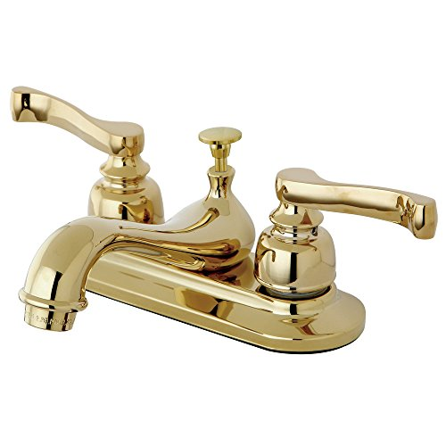 Kingston Brass KB8602 4 Inch Centerset Lavatory Faucet With Pop Up Drain Pol