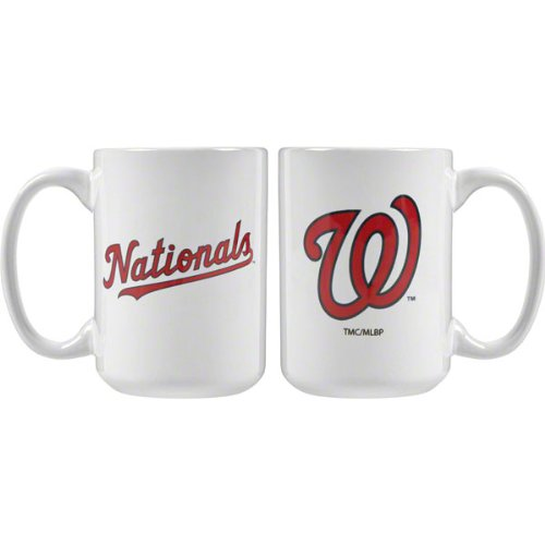 Washington Nationals 15 oz. White Mug at Amazon.com