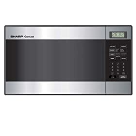 Sharp R-216LS Compact Size 0.8 Cu-Foot Microwave, Stainless Steel