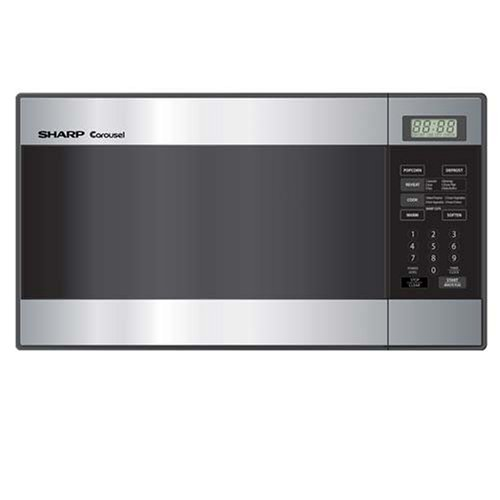 Review Sharp R-216LS Compact Size 0.8 Cu-Foot Microwave, Stainless Steel