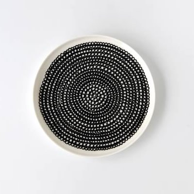 marimekko SIIRTOLAPUUTARHA プレート/Sサイズ 20cm (ブラック) マリメッコ シイルトラプータルハ