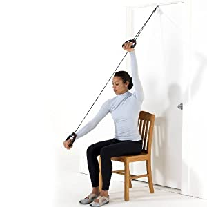 Multi-Use Shoulder Pulley Deluxe - with Foam Cushion Assistive Grip & Metal Door Bracket from Lifeline USA