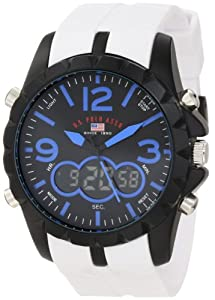 U.S. Polo Assn. Sport Men's US9240 White Analog Digital Strap Watch
