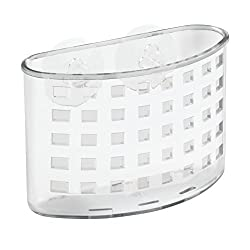InterDesign Plastic Bath Organizer, Clear