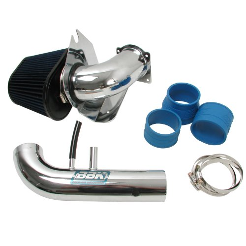 BBK 1718 Cold Air Intake System - Power Plus Series Performance Kit for Ford Mustang 4.6L 2V - Fenderwell Style - Chrome Finish (04 Mustang Air Intake Kit compare prices)