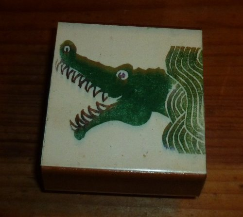 Alligator Head Rubber Stamp - 1