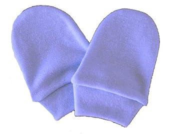 Mitaines bleu pour les nouveau-nés - gants pour bébés
