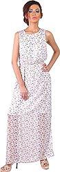 Mabyn Women's A-Line Dress (SSSSD21 _L, White, L)