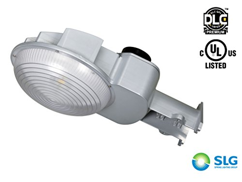 [Dusk to Dawn Photocell Included, DLC Premium Listed] SLG D2D LED Barn Light LED Yard Light, 120-277VAC 45 Watts(100W MH Comparable), Daylight(5000K), 5000LM, High Efficacy 111 LMW, IP65 Rated