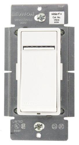 Leviton Vre06-1Lz Vizia Rf + 600W Electronic Low Voltage Scene Capable Dimmer, White/Ivory/Light Almond