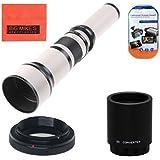 Long-Range 650mm-2600mm f/8 Telephoto Zoom Lens for Canon Digital EOS Rebel T1i, T2i, T3, T3i, T4i, T5i, SL1, EOS60D, EOS70D, 50D, 40D, 30D, EOS 5D, EOS1D, EOS5D III, EOS 6D, EOS 7D Digital SLR Cameras