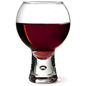 Durobor set of 6 11oz 3300ml short stem bubble base red wine glasses 06 11 101 - Wine glasses with thick stems ...