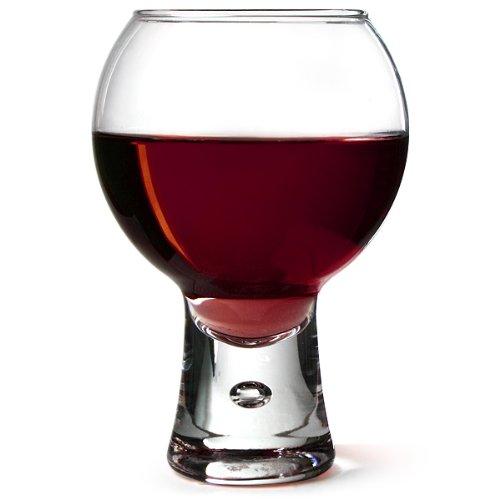 Alternato Wine Glasses 11.6oz / 330ml - Pack of 6 | Red Wine Glasses, Short Stem Glasses, Bubble Base Glasses from Durobor
