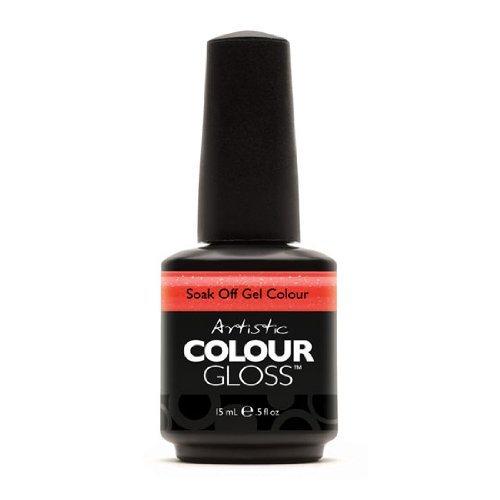 Artistic Nail Design Soak Off Colour Gloss Gel Coral Orange Polish 03059 Juiced