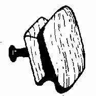 Waddell Mfg Co 578DI-1.25 Hardwood Square Knob-1-1/4