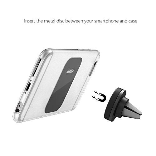AUKEY-Soporte-Mvil-Coche-Air-Magntico-Universal-Soporte-de-Smartphone-para-Rejillas-del-Aire-de-Coche-para-iPhone-6s-6-Plus-LG-G3-y-Dispositivo-GPS-Negro