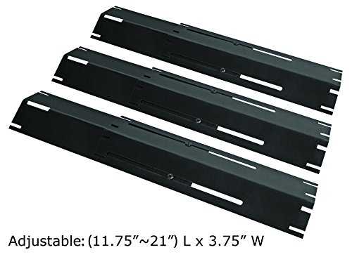 Unicook Universal Replacement Heavy Duty Adjustable Porcelain Steel Heat Plate Heat Tent,Extends from 12