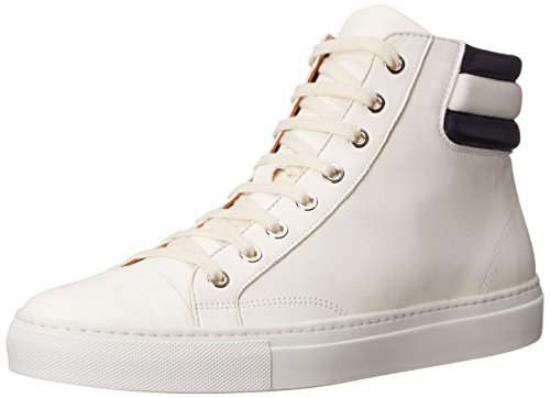 Ralph Lauren Men's Stamford Fashion Sneaker, White/Navy, 10.5 D US