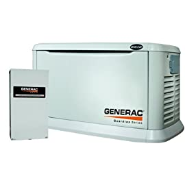 Generac 6244 20KW Aluminum Automatic Standby Generator with 200A Service rated transfer switch. 5 Year Warranty! **IN STOCK**