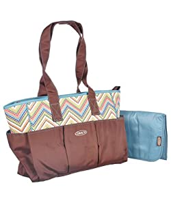 graco avery diaper tote bag brown one. Black Bedroom Furniture Sets. Home Design Ideas