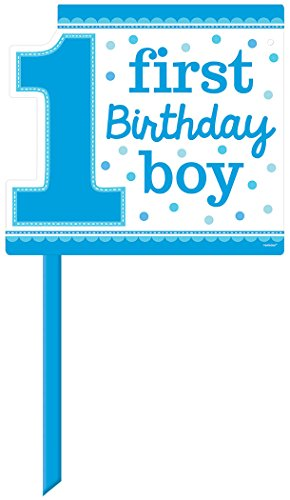 "Amscan 1st Birthday Boy Yard Sign, 14"" x 15"", Blue"
