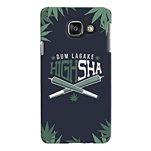 ColourCrust Samsung Galaxy A3 A310 (2016 Edition) Mobile Phone Back Cover With Dum Laga Ke Highsha Quirky - Durable Matte Finish Hard Plastic Slim Case