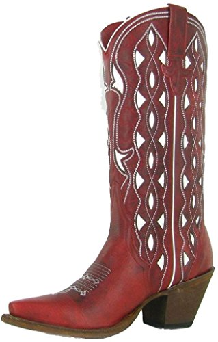 Macie Bean Western Boots Womens She's My Cherry Pie 10 M Red M8649 (Shes My Cherry Pie compare prices)