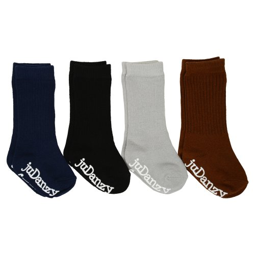 Judanzy Boys Ribbed Knee High Neutral Socks 4-Pack (12-24 Months) front-474978
