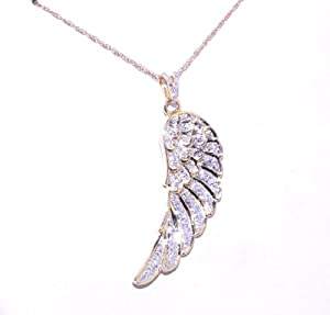 10K Yellow Gold Angel Wing Charm
