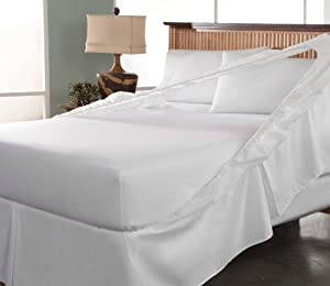 Perfect Fit Easy on Easy Off Bed Skirt and Box Spring Protector, Twin, White