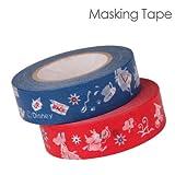 デルフィーノ マスキングテープ アリス レッド&ブルー DZ-74170