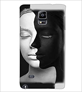 PrintDhaba Faces D-4814 Back Case Cover for SAMSUNG GALAXY NOTE 2 (Multi-Coloured)
