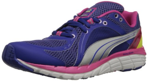 PUMA Women's Faas 600 S Running Shoe,Spectrum Blue/Beetroot Purple/Sunny Lime,8.5 B US