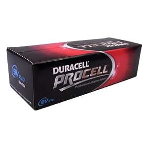 Duracell Procell 9V Block Batterie, 550 mAh (10er-Pack)